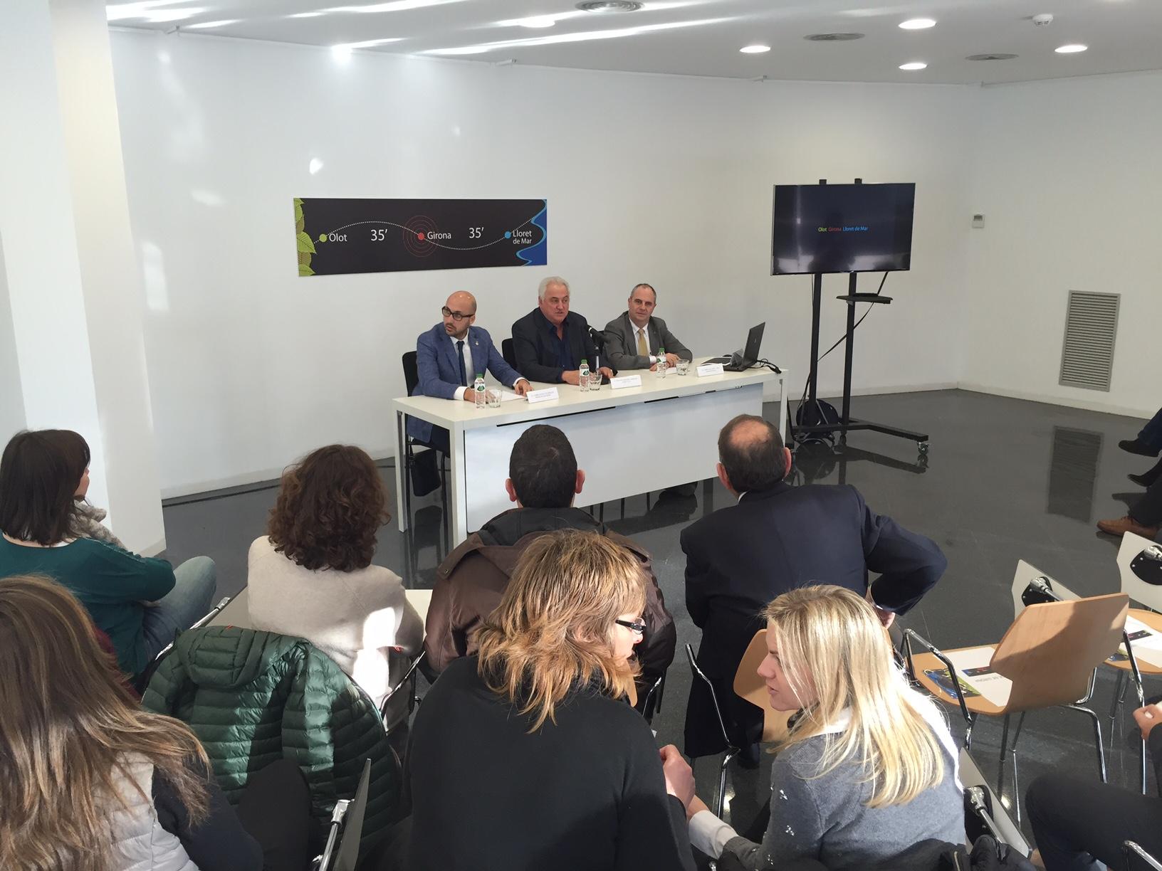 Olot, Lloret i Girona sumen esforços per promocionar el turisme de congressos