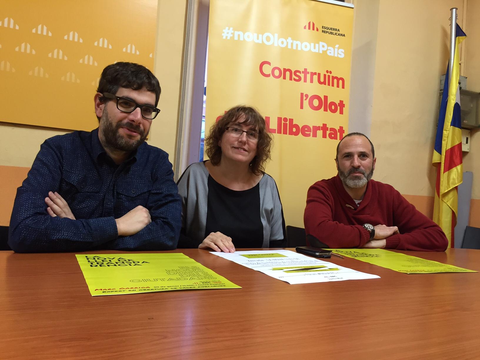 ERC comença a Olot un cicle de conferències per dissenyar la República Catalana