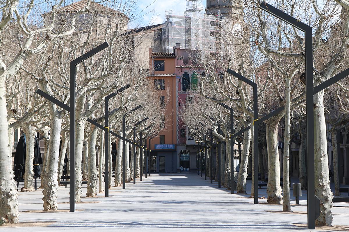 Olot permetrà l'ampliació i la creació de noves terrasses de bars i restaurants