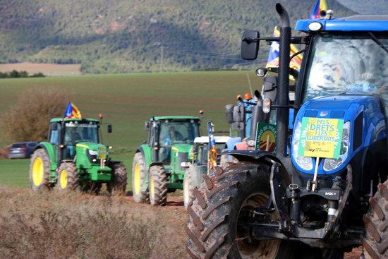 Els pagesos de la Vall d'en Bas faran una tractorada fins a Olot per protestar contra la variant