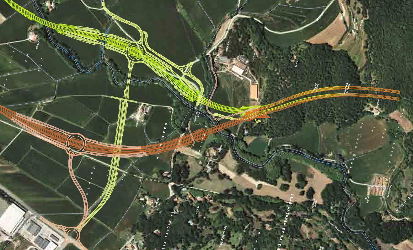 Els traçats proposats per Territori per la variant de les Preses no encaixen amb el tram sud d'Olot