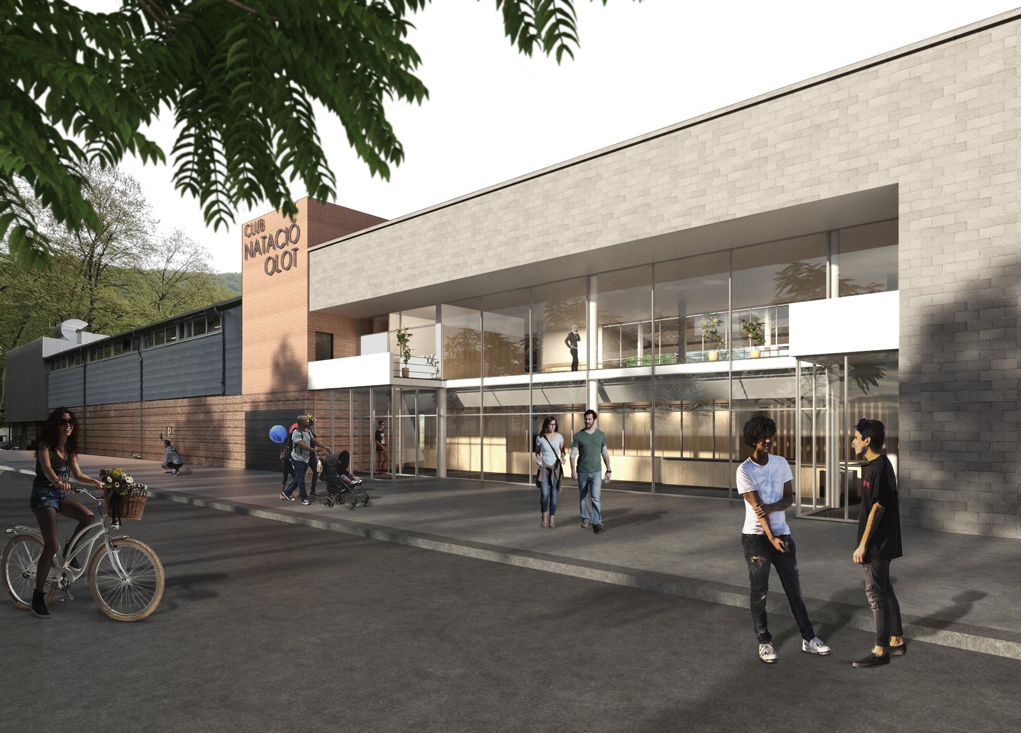 Així serà el Club Natació Olot; es presenta el disseny de l'edifici central