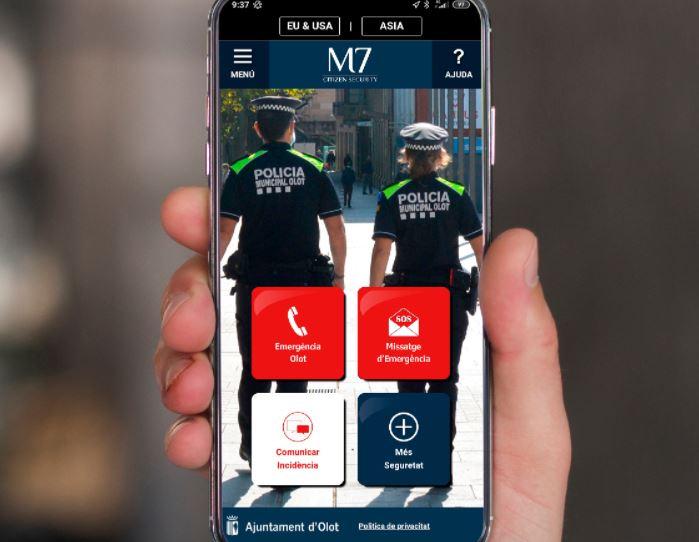 Olot posa en marxa una aplicació mòbil per comunicar-se amb la Policia Local